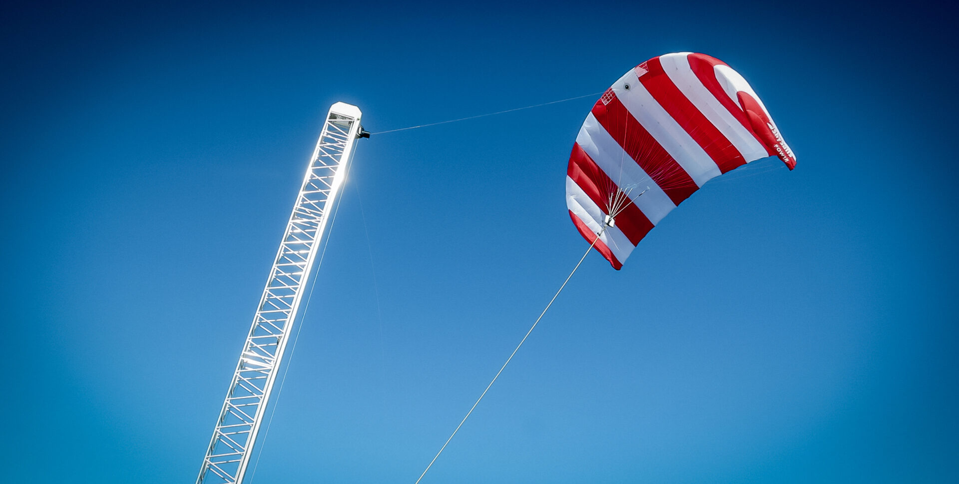 Airborne wind energy is harvested by a power kite.