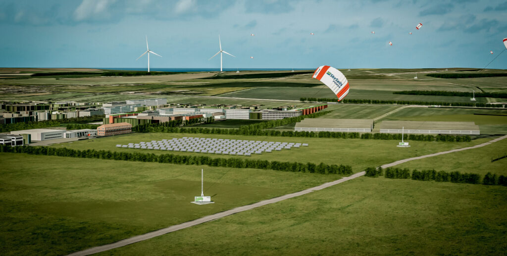 Hybridizing solar parks with airborne wind power optimizes the use of land and increases the capacity factor and the overall economic viability of a project.